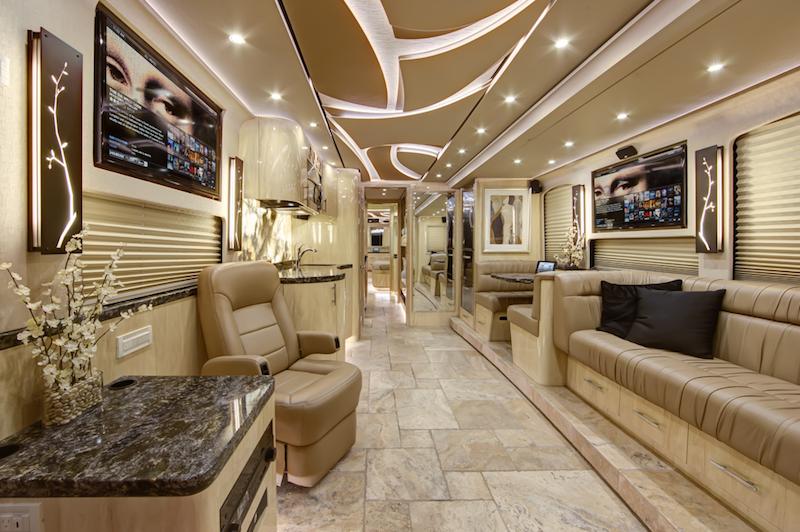 2014 Prevost Florida Coach X3 45 Vipdouble Slidewith Bunk Beds