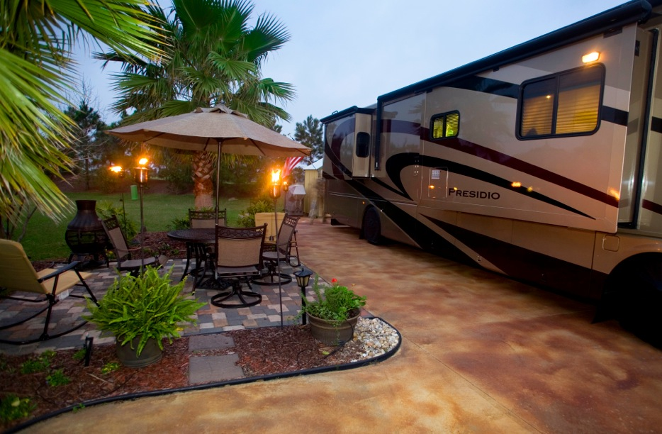 Homes Ponderosa Country Kha1111 Hb 07 web also Prevost bellaterra story moreover 3516160 also Prefab Car Garages For Sale In Pa Nj Ny also Bella Terra Of Gulf Shores Rv Resort Luxury Rving On The Alabama Coast. on parking pad with storage